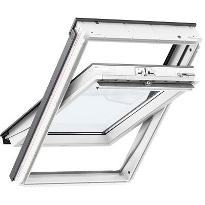 Вікно мансардне VELUX GLU 1061 Стандарт плюс Біле двокамерне