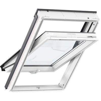 Вікно мансардне VELUX GLU 1061B Стандарт плюс Біле двокамерне